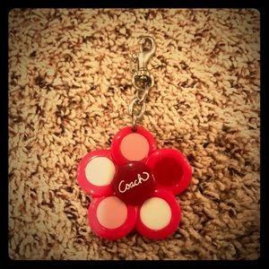 Coach key chain EUC flower look